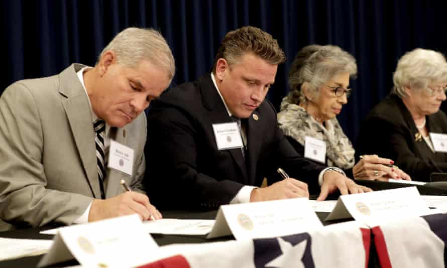 Arizona electoral college members cast their ballots for President-elect Donald Trump at the capitol in Phoenix. All 11 Arizona members cast their votes for Trump.