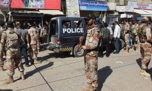Pakistani security personnel