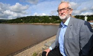 Jeremy Corbyn visiting Whaley Bridge on Monday