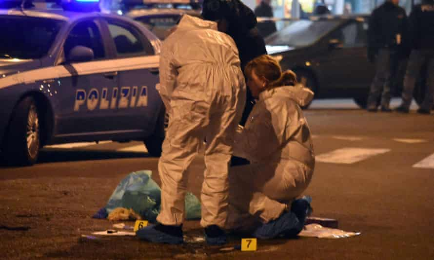 Scene of the shootout between Anis Amri and police in December