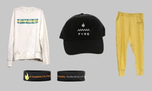 Fyre festival merchandise is put up for auction by the US marshals service.