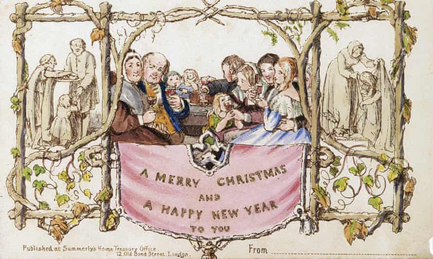 The first commercially printed Christmas card scandalised the Temperance society so much that it took three years before another was produced.