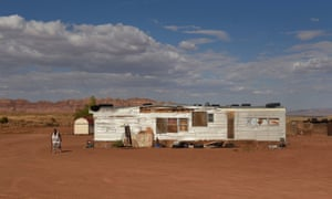 A family compound in a remote area of the Bodaway Chapter on the Navajo Nation outside of Gap, Arizona. Many tribal members do not have conventional postal addresses.