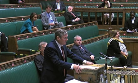 Keir Starmer Accuses Boris Johnson Of Abandoning People With Viable Jobs Pmqs The Guardian