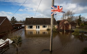Flooding in Northmoor Green, Somerset