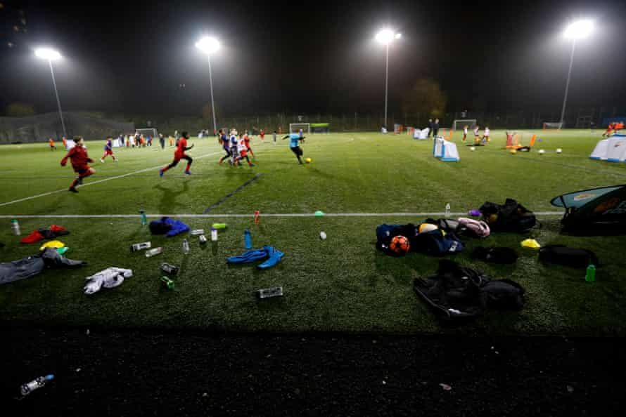 Drumchapel training in November. The club has more than 600 players in 31 teams.