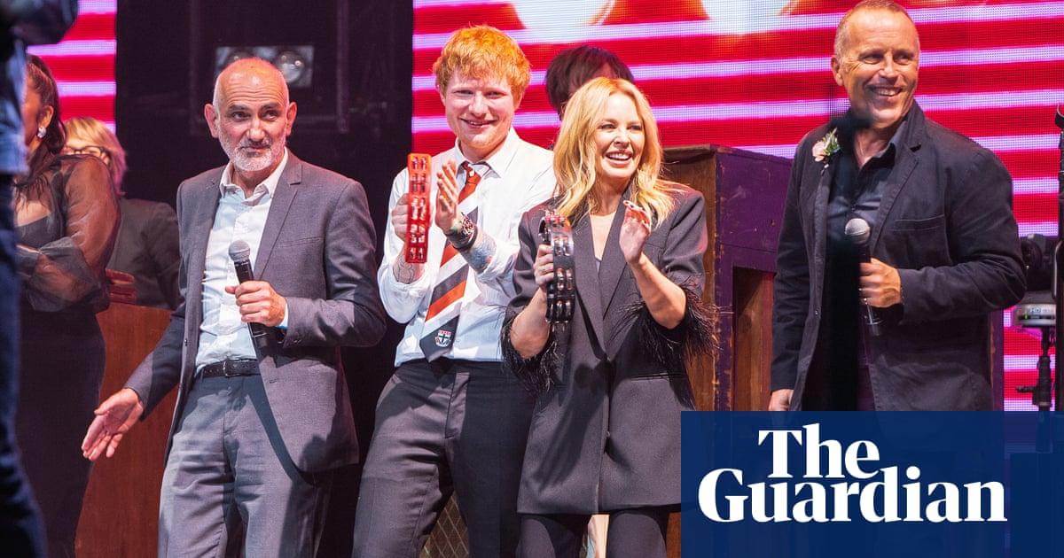 Kylie Minogue, Ed Sheeran and Jimmy Barnes perform at Michael Gudinski's state memorial