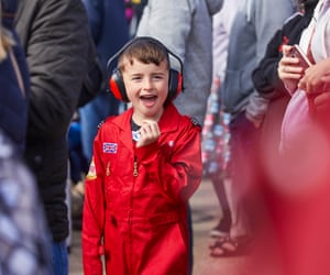 A young aviation enthusiast at the airshow