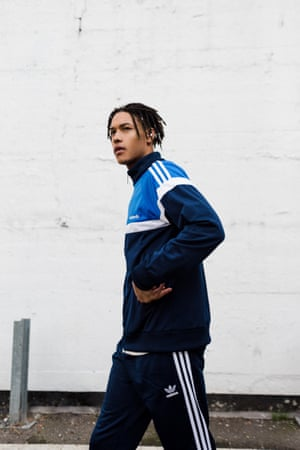 An Adidas Originals tracksuit, AW15, inspired by the Beckenbauer tracksuit.