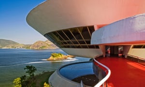 The 'sensual curve': sweeping balconies at the Niemeyer's Contemporary Art Museum in Rio.