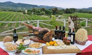 Sardinian farm foods, wine and views