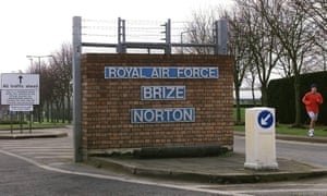 It is thought that the flights probably started or ended at the RAF's Brize Norton base in Oxfordshire.