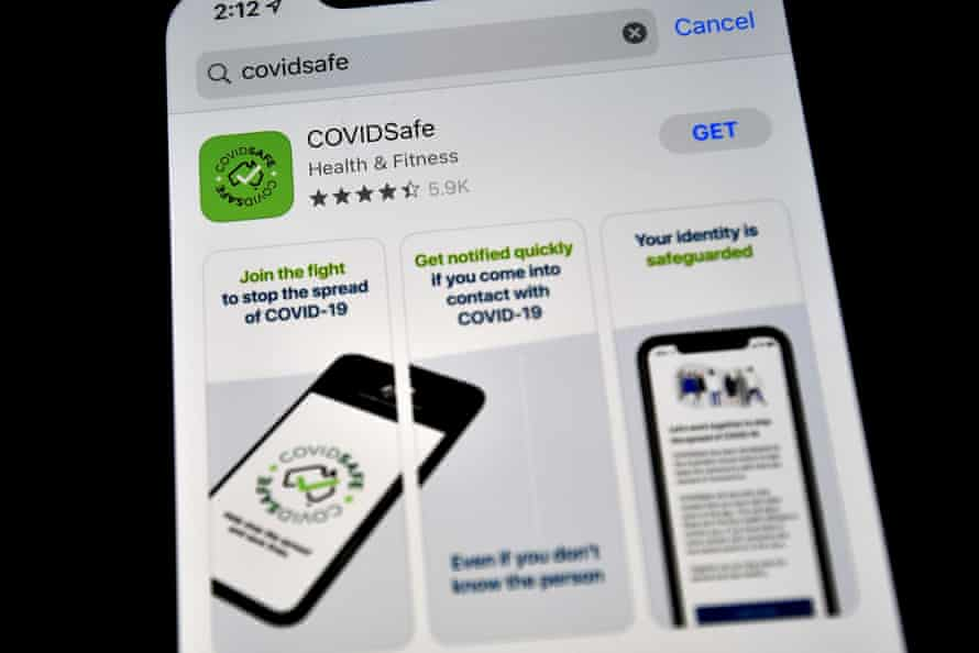 A new COVIDSafe app by the Australian government as seen on an Iphone to install in Sydney on April 27, 2020.