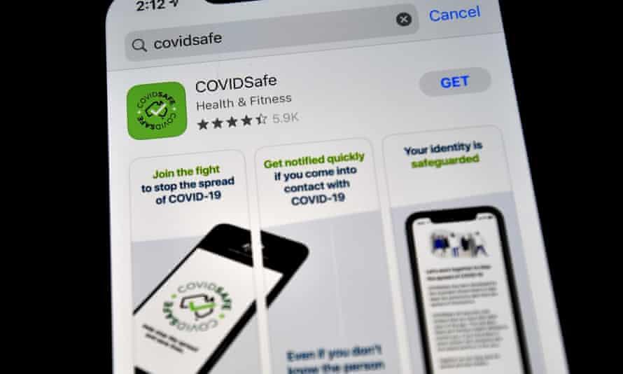 covidsafe app on a phone