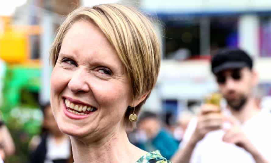 Cynthia Nixon's joke about her new campaign slogan references the 1977 New York mayoral race.