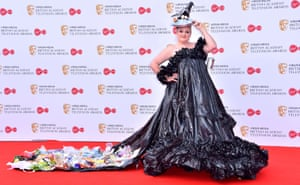 Daisy May Cooper in her bin bag dress at the 2019 TV Baftas