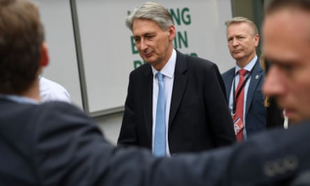 The chancellor of the exchequer, Philip Hammond
