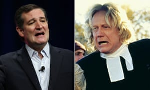Composite of Ted Cruz and Bruce Davidson in The Crucible