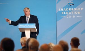 Boris Johnson during a Tory leadership hustings in Belfast on Tuesday.