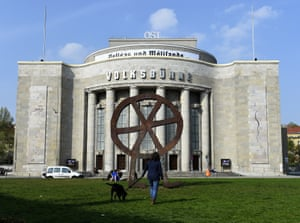 The main entrance to the Volksbühne.