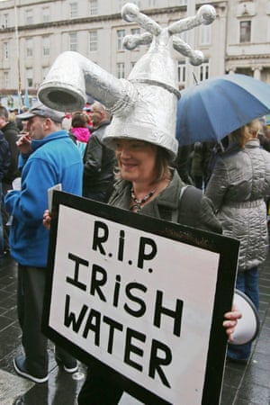 A protest by the Right2Water movement.