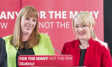 Angela Rayner and Rebecca Long Bailey campaigning in May 2017.