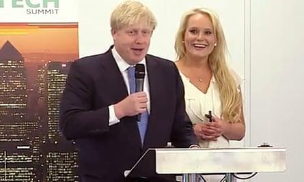 Boris Johnson with Jennifer Arcuri at the Innotech summit, London, in July 2013.