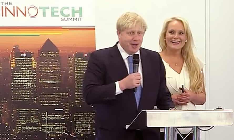 Boris Johnson, with Jennifer Arcuri at the Innotech Summit in July 2013
