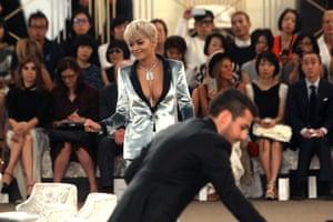 Rita Ora at the Chanel couture show.