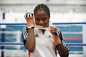 Nicola Adams who is on course to compete for the Womens GB Boxing Team at the 2012 London Olympics.