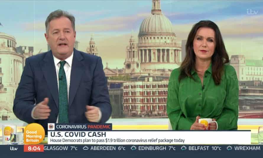 Susanna Reid on Good Morning Britain with Piers Morgan