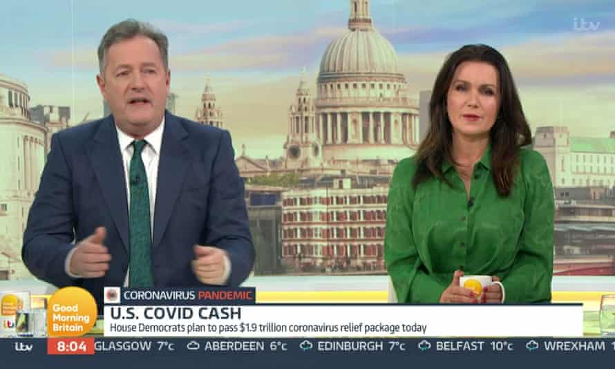 Piers Morgan and Susanna Reid on Good Morning Britain.
