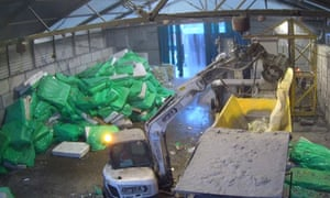 Mattresses are processed at Circom's warehouse in Coventry