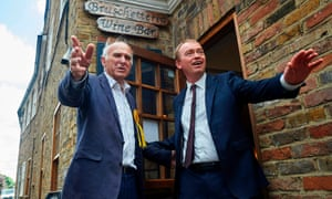 Vince Cable and Tim Farron campaigning in Twickenham.