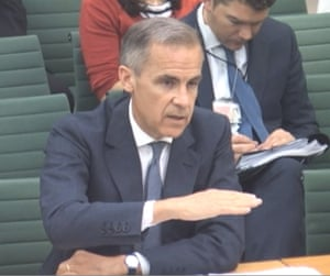 Governor of the Bank of England Mark Carney appearing before the Treasury Select Committee at the House of Commons, London, today