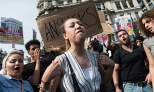 Protesters in Parliament Square on last week's 'day of rage'