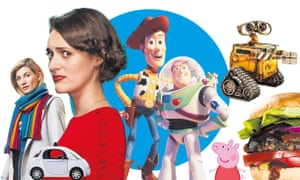 Doctor Who; driverless cars; Phoebe Waller-Bridge; Toy Story; Wall-E; Peppa Pig; burgers