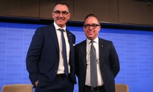 Virgin CEO Paul Scurrah and Qantas CEO Alan Joyce