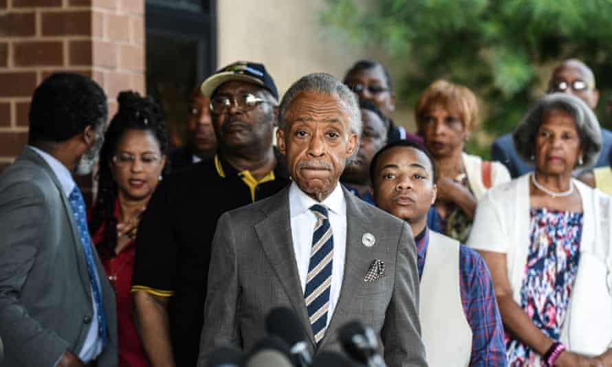 Al Sharpton was in Baltimore on Monday to protest against Donald Trump's remarks about the city.