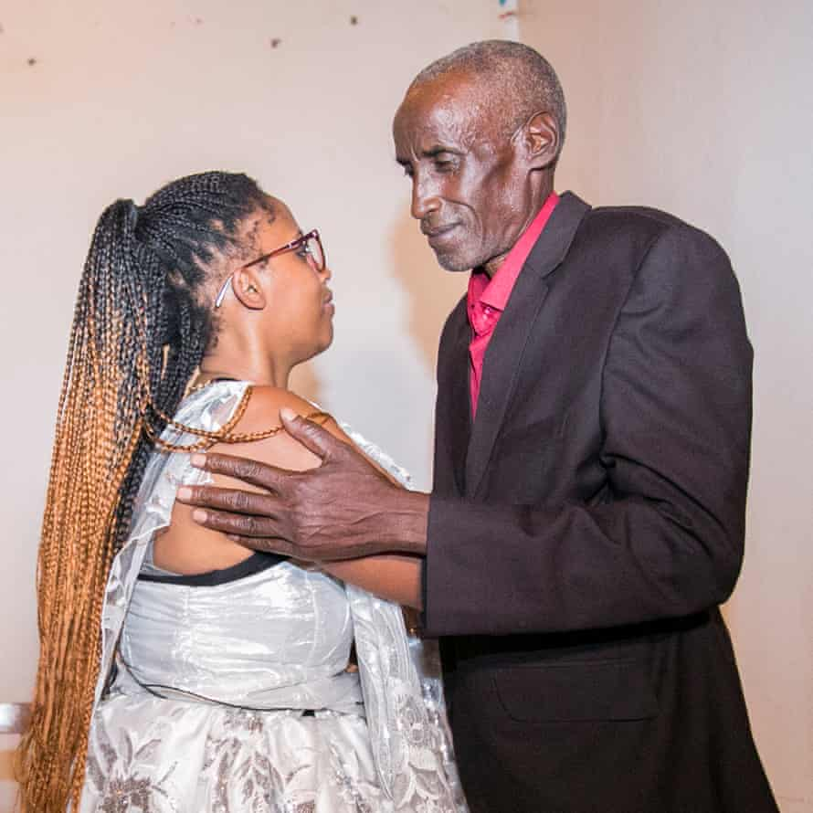 Jeanette Chiapello and her father Leonard Sebarinda meet again for the first time in 23 years after being separated by Rwanda's genocide.