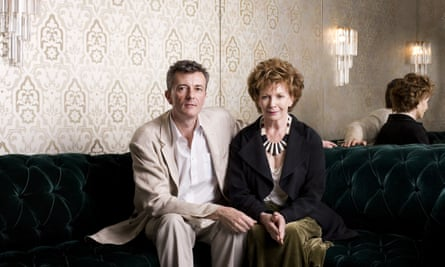 With her son Sasha Gébler at Cecconi's restaurant in Mayfair, London, 2007.