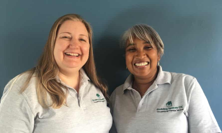 Jo Dowdeswell (left) and Yvonne Singleton are occupational therapists and work with people who hoard.