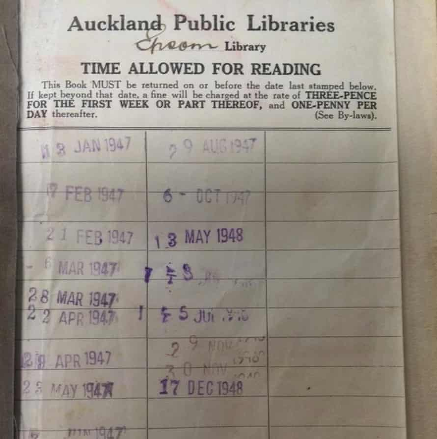 Myths and Legends of Maoriland, by A W Reed, has been returned to a New Zealand library 67 years after it was checked out.