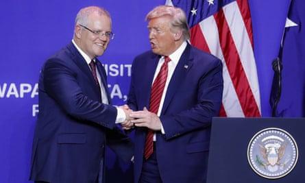 Scott Morrison and Donald Trump