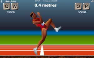 Screengrab from QWOP
