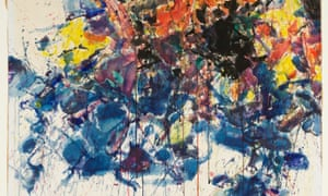 Detail from Red, Black & Blue by Sam Francis (1958), included in Linda Karshan's gift to the Courtauld Gallery.
