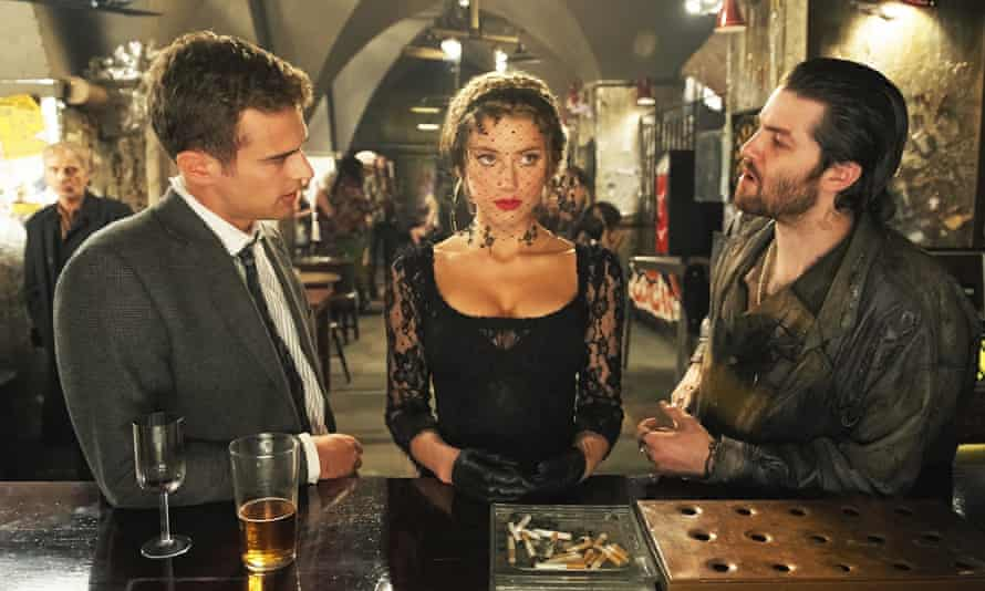 Amber Heard with Theo James and Jim Sturgess in London Fields.