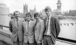 From left: GLC members Ken Livingstone, John McDonnell, Ken Little and Lewis Herbert