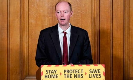 The chief medical officer for England, Chris Whitty, speaking at the UK government's daily press conference on Wednesday