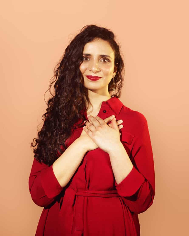 Hands on heart communicate warmth… Ella Al-Shamahi.